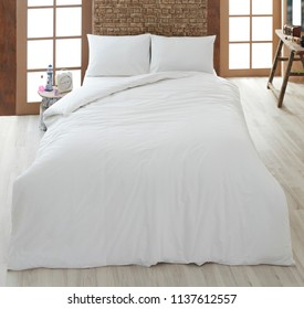 white linen and pillow