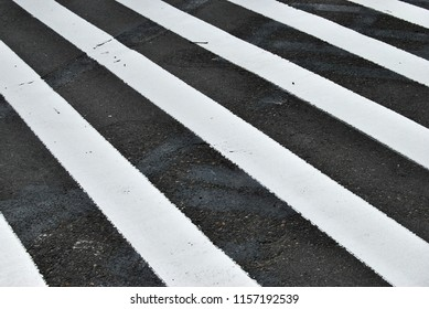 White lines on pavement