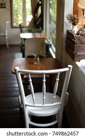 White lonely chair