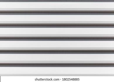 White louvre aluminum sheet texture and seamless background