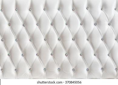 White luxurious leather texture furniture