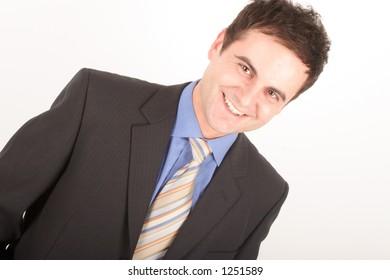 white man in suit portrait