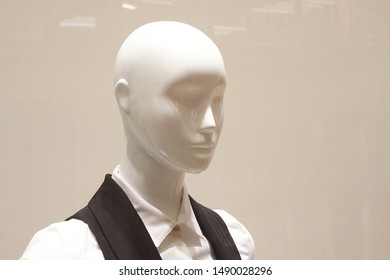 White mannequin in the store
