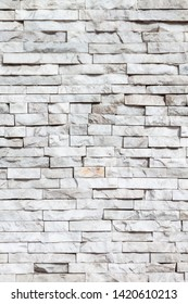 white marble brick wall texture and background