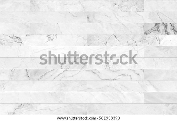 White marble bricks wall for background , seamless marble wall pattern , for Interiors design. High resolution
