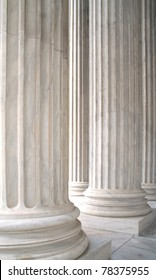 The white marble columns of the US Supreme Court