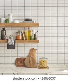 white marble countertops, brass hardware modern kitchen countertops