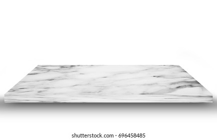 white Marble floor on white background.