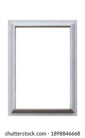 White marble photo frame isolated on a white background