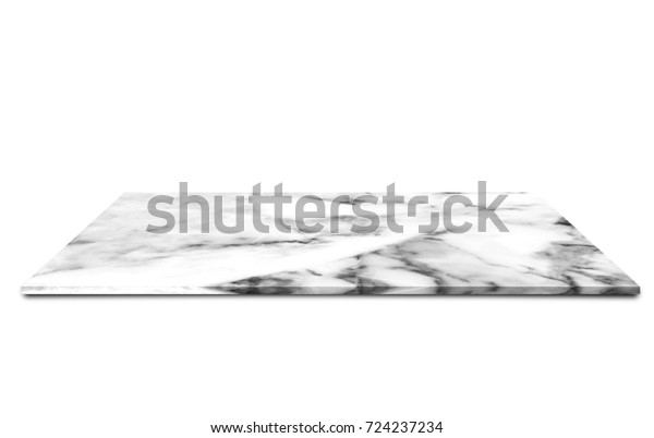 White Marble Plate Isolated On White Stock Photo (Edit Now
