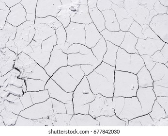 White marble powder background crossed by cracks