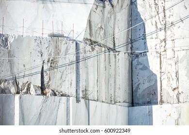White marble quarry. Carrara, Tuscany, Italy