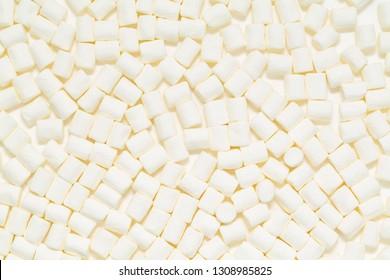 White marshmallows texture. Marshmallows food background.