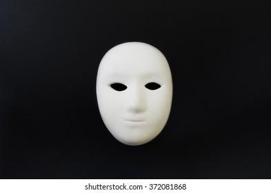 white mask isolate black background