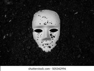 White mask in soil