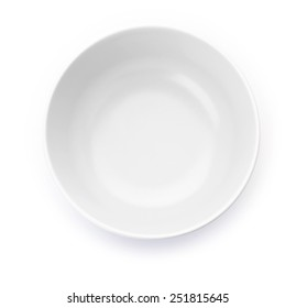 White matted bowl on white background