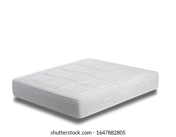 white mattress in a white isolated background