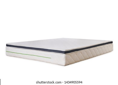 White mattress protector isolated over white background