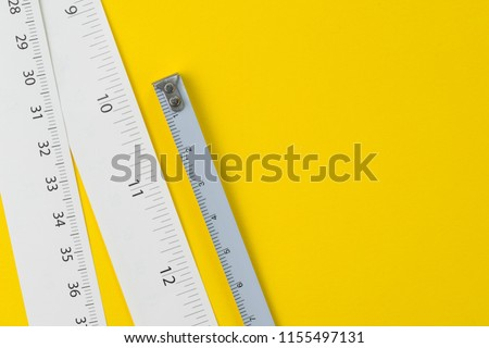 white measuring tapes centimetre inches on stock photo edit now