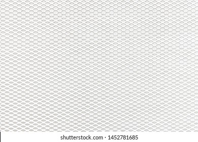 White mesh on a white background