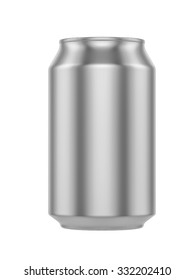 White Metal Aluminum Beverage Drink Can 500ml. Ready For Your Design. 3D illustration