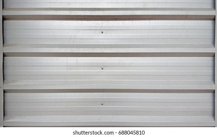 white metal corrugated texture surface