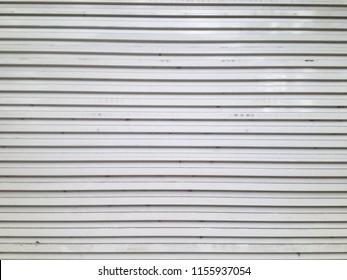 White Metal Door Shutter Door