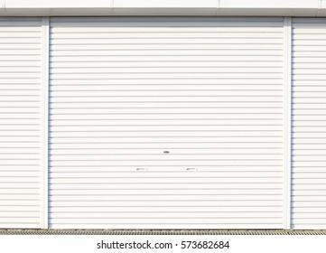 White metal door shutter background and texture