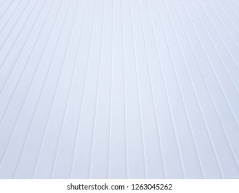 The white metal sheet roof for texture and background