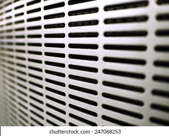 White  Metal Ventilation Louver Close up of air condition