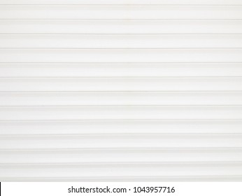 White Metallic roll up door background