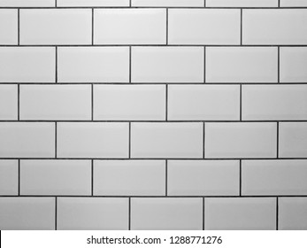 White Brick Black Grout High Res Stock Images Shutterstock