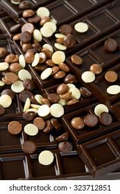 white, milk and dark chocolate