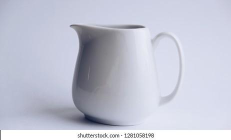 white milkman on white background