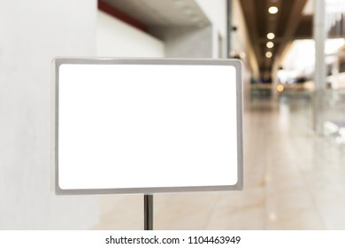 White mock up billboard in hallway