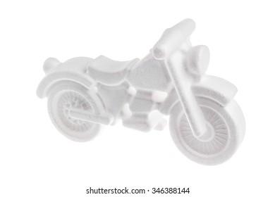 white model of styrofoamon a white background