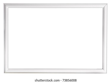 white  modern  photo frame isolated on white background