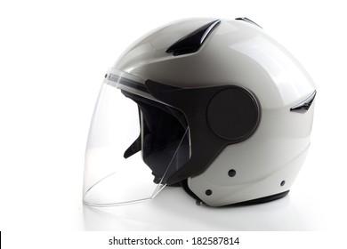White modern quad ATV helmet