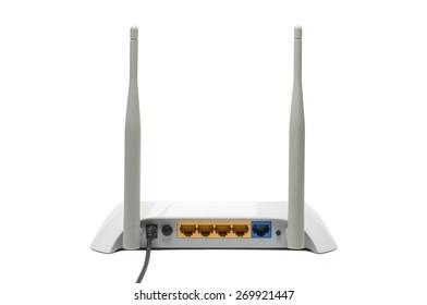 white modern wifi router