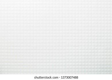 White mosaic tile background