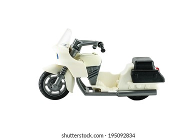 White Motorcycle toy
