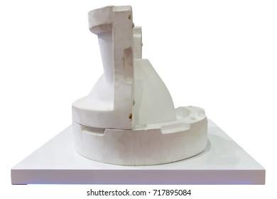 White Mould Ceramic Slip Casting Production Stock Photo