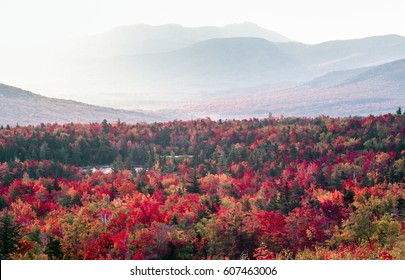 White Mountains, New Hampshire Autumn or fall  landscape