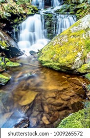 White Mountains, New Hampshire waterfall or rushing cascade