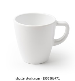 white mug isolated on background