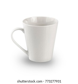 white mug isolated on white background with Clipping Path