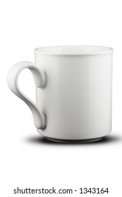 A white mug. Isolated on white with path.