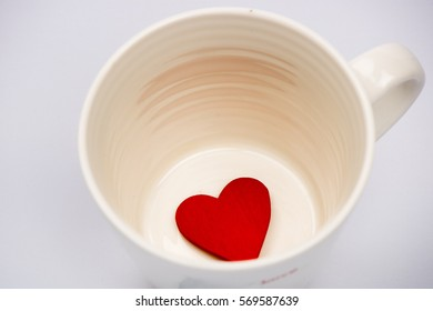 White Mug with Love heart