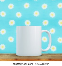 White Mug Mockup - Easter theme. Perfect for businesses selling mugs, just overlay your quote or design on to the image.