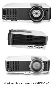 White multimedia projector isolated on white